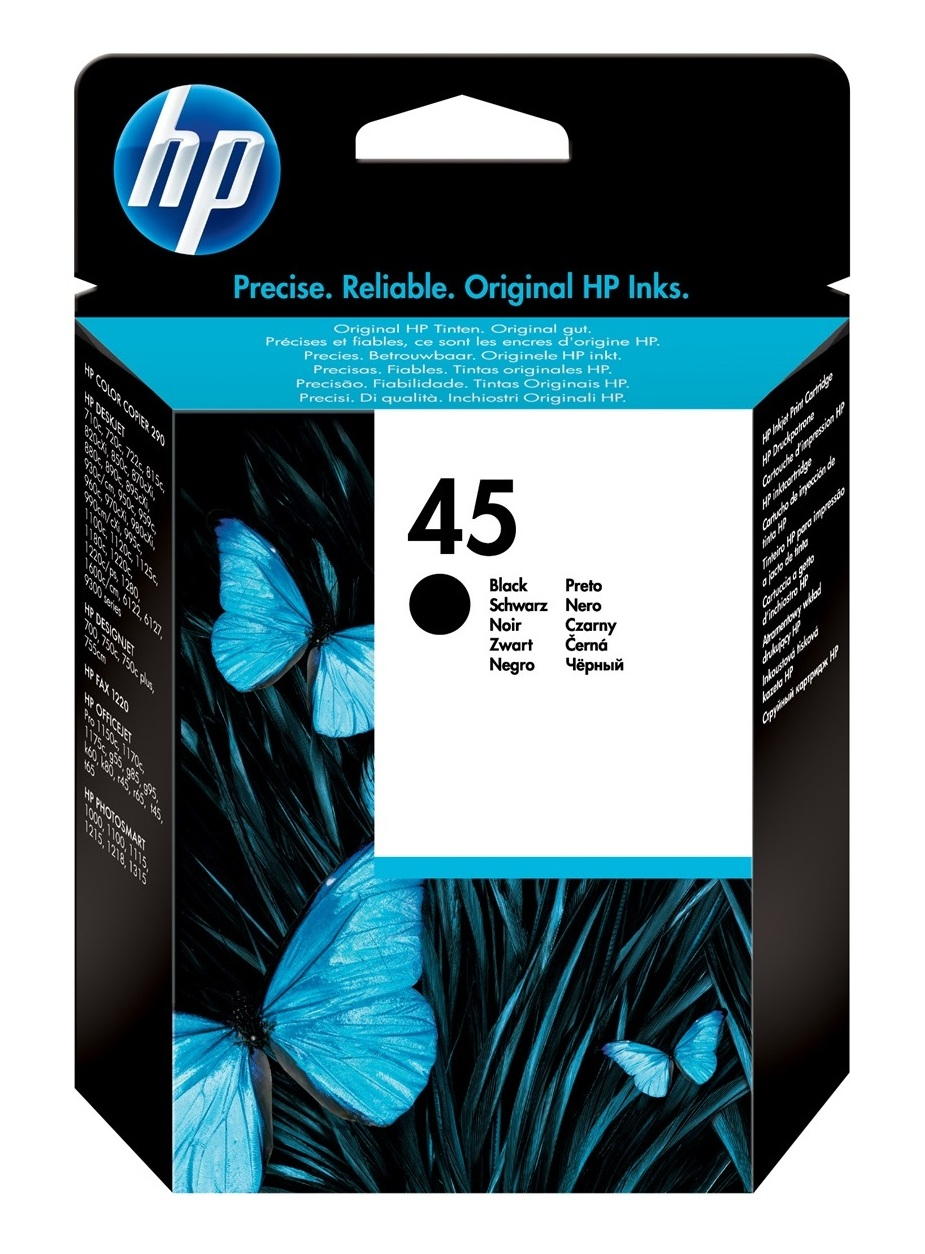 4 Pack HP 45 Ink Cartridge Color Copier 145 150 155 160 170 180 190 210 260 270