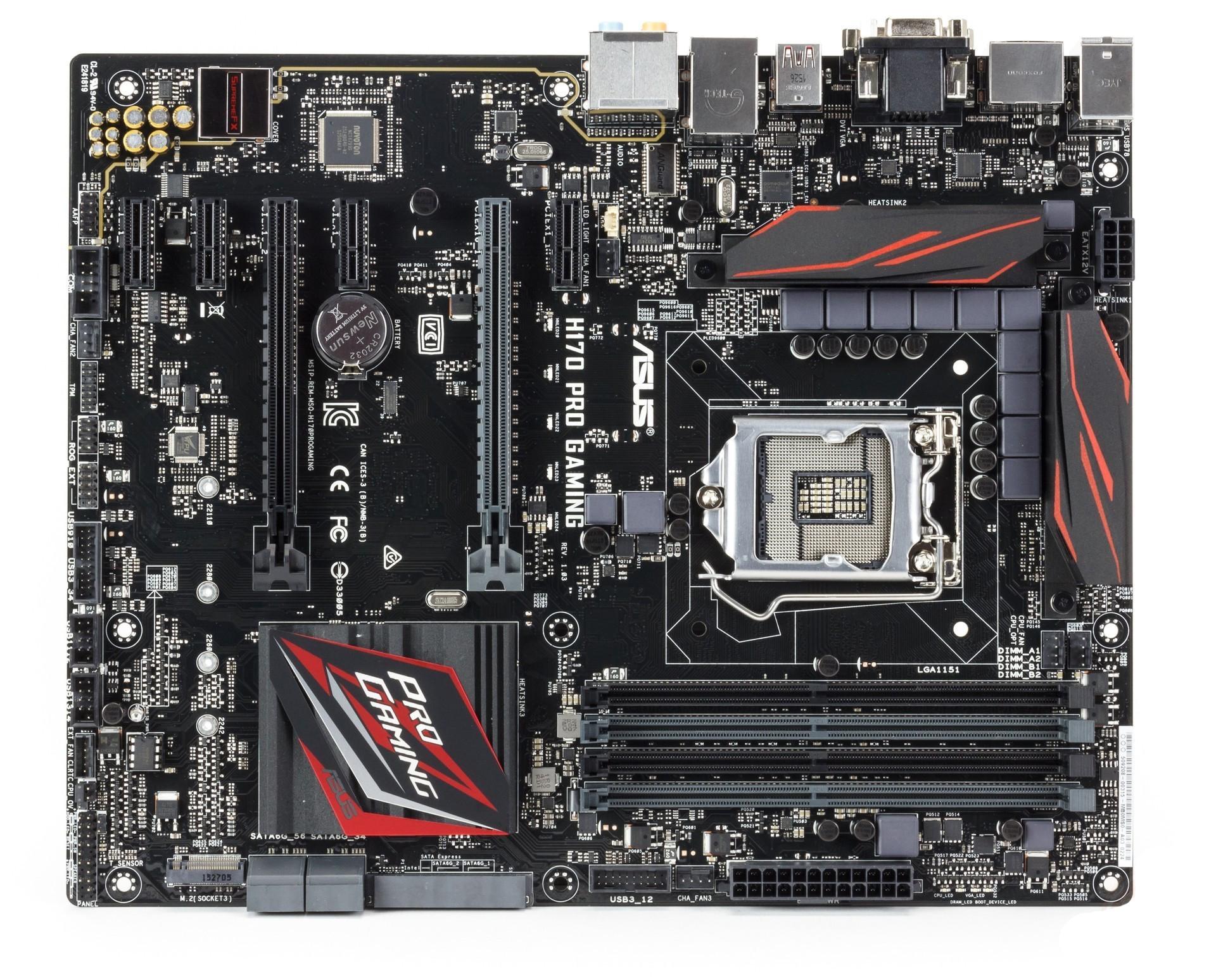 Asus Ah170prog Motherboard Asush170 Pro Socket 1151 Lga Chipset Intel H170