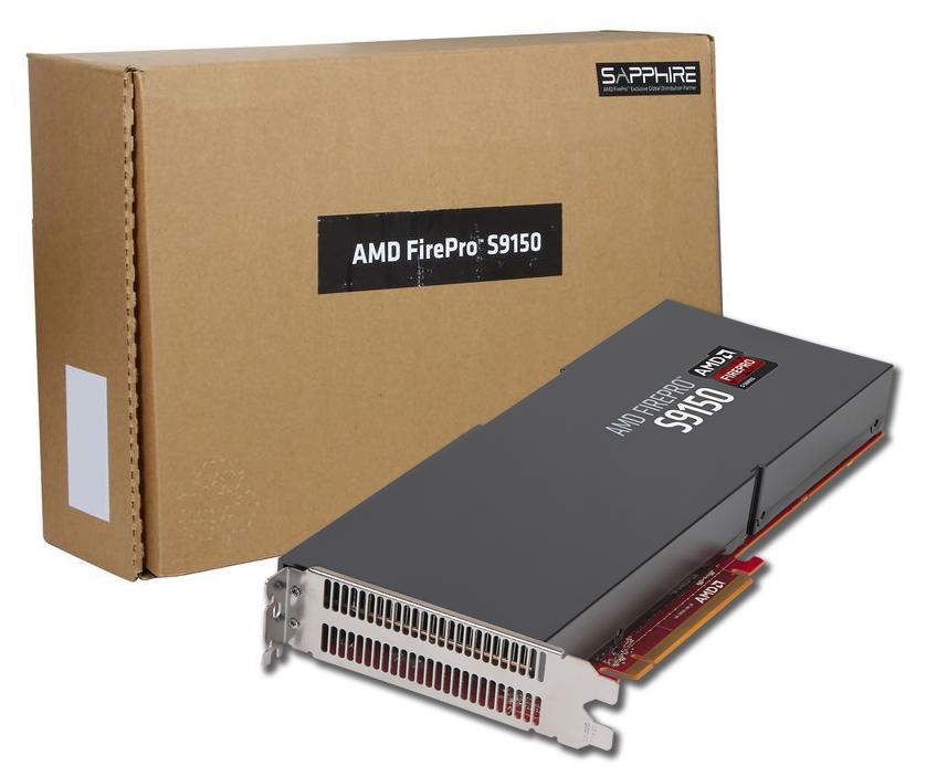 AMD FirePro S9150 Server GPU, 16GB GDDR5, 512 Bit, PCI-E, 3YR