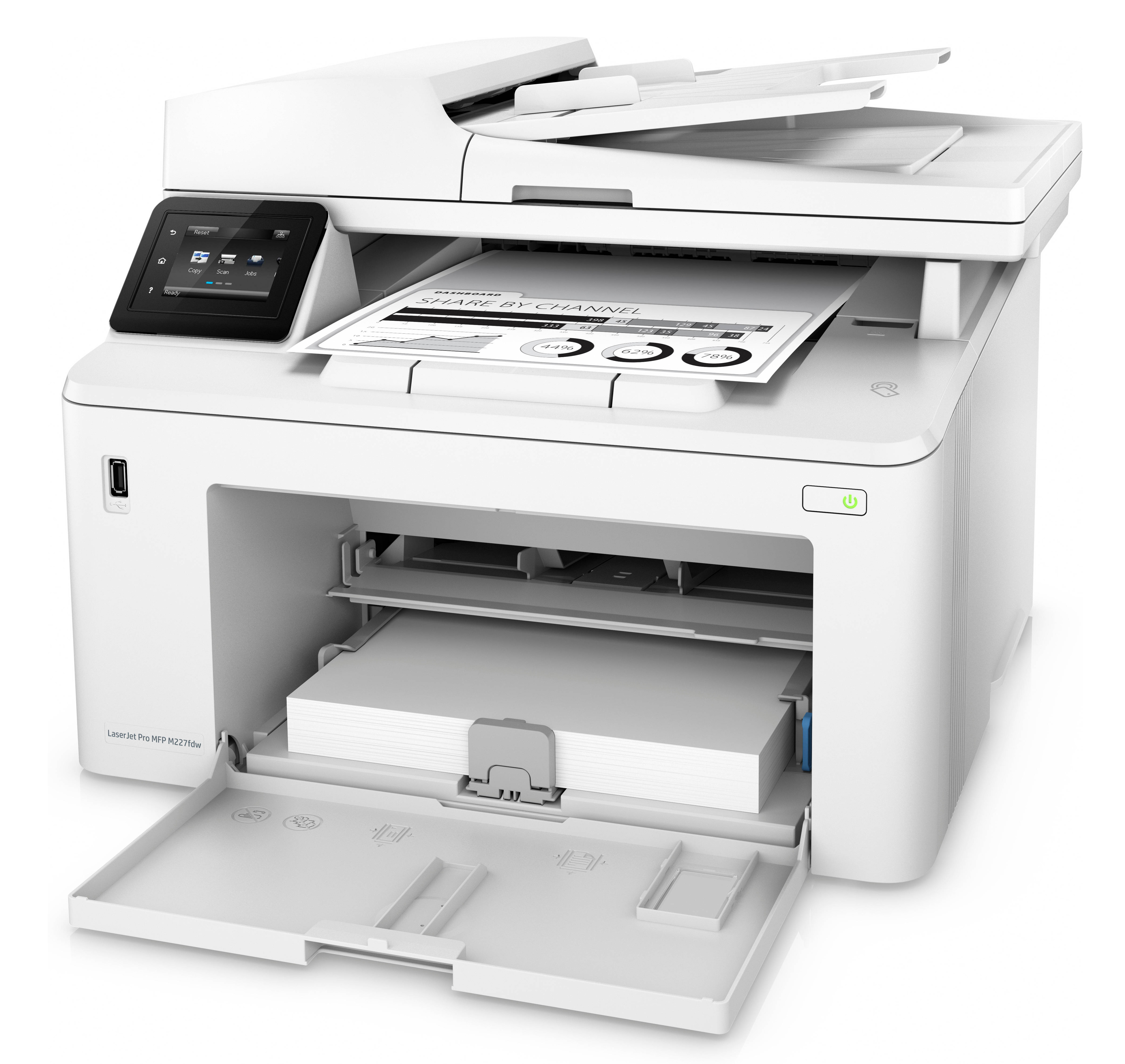 HP LaserJet Pro M227fdw - Black Laser Printer, Fax, Scan, A4, Wi-Fi