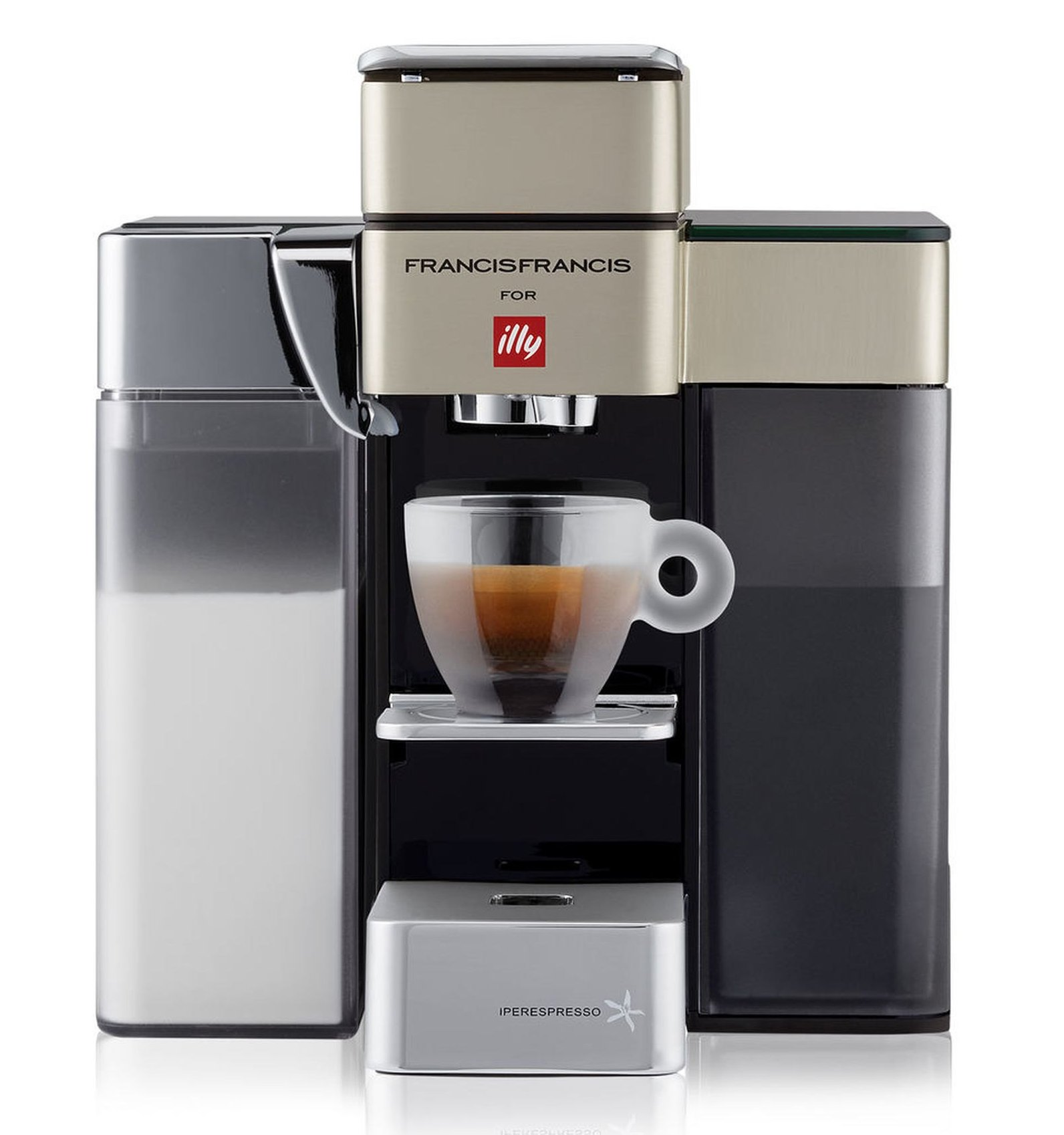 ILLY Francis Francis Y5 Milk, Espresso & Coffee Machine
