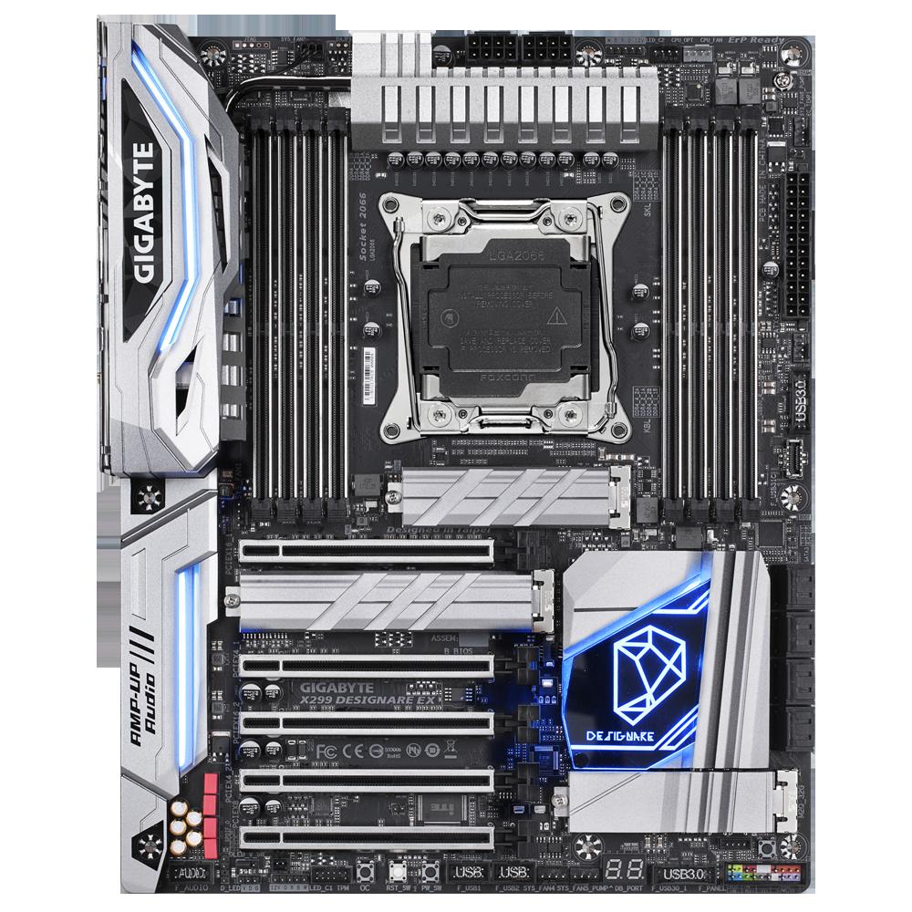 Gigabyte X299 DESIGNARE EX Intel® X299 LGA 2066 ATX motherboard, X299  DESIGNARE EX
