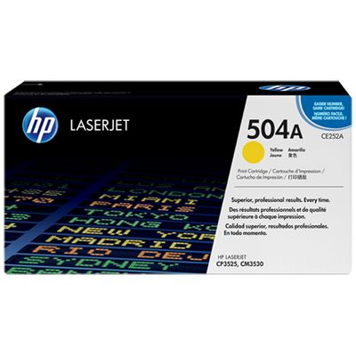 HP 504A, Yellow,