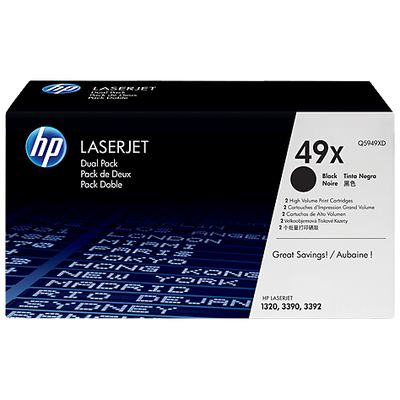 HP 49X, 2-pack, High